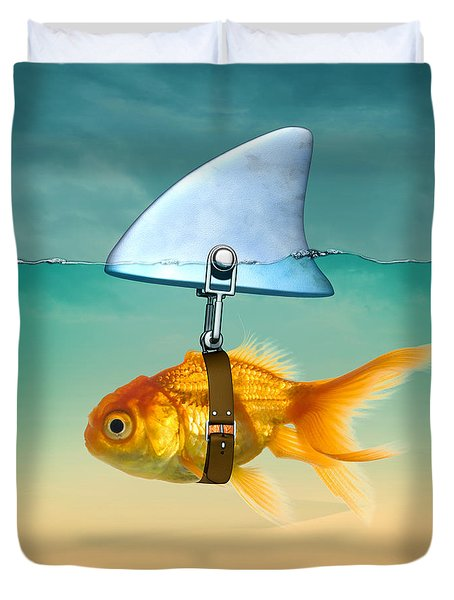 Gold Fish  Duvet Cover