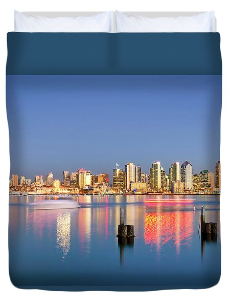 Magical Golden City Duvet Cover