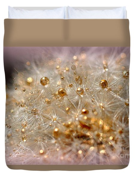 Golden Flower Duvet Cover