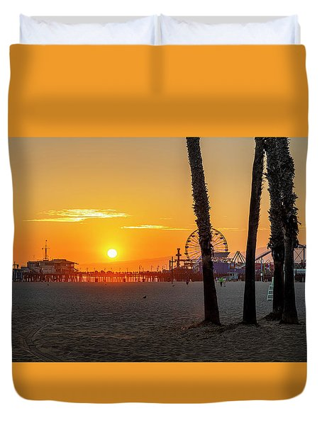 Golden Glow At Sunset Duvet Cover