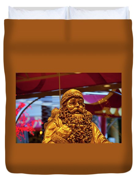Golden Idol Duvet Cover