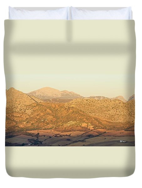 Golden Light In Andalusia Duvet Cover
