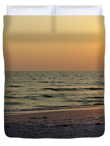 Golden Setting Sun Duvet Cover