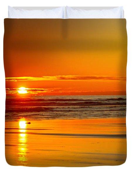 Golden Sunset Duvet Cover by Robert Bales