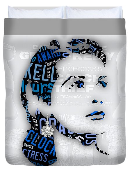 Grace Kelly Movies In Words Duvet Cover