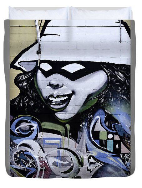 Graffiti Girl Duvet Cover