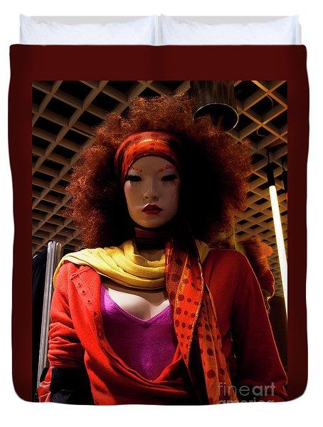 Colored Girl Duvet Cover