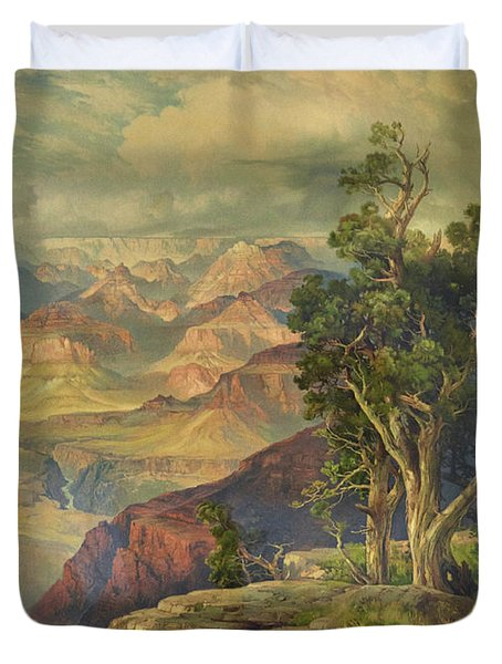 Grand Canyon From Hermit Rim Road Duvet Cover
