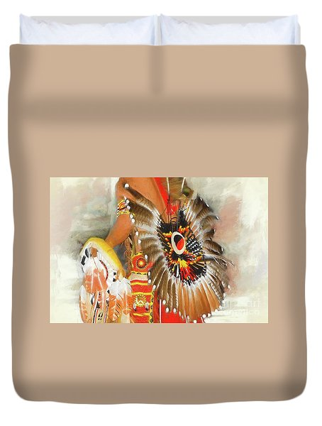 Grand Prairie Texas Pow-wow Duvet Cover