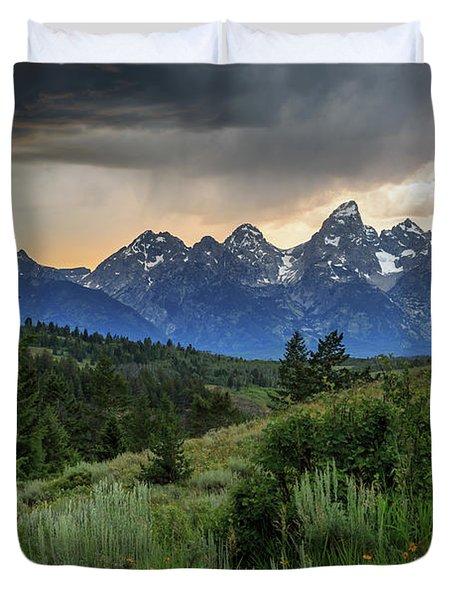 Grand Stormy Sunset Duvet Cover
