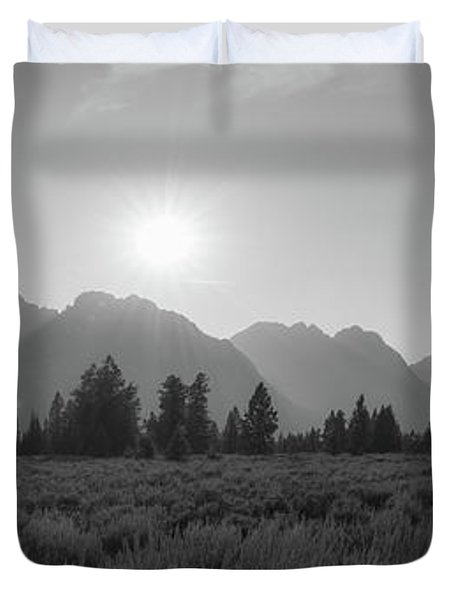 Grand Teton National Park Sun Burst Duvet Cover