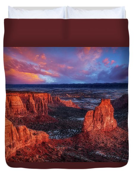 Grand View Sunrise Duvet Cover