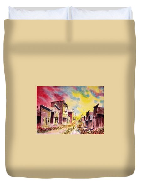 Granite Ghost Town Montana Duvet Cover by Kevin Heaney
