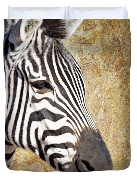 Grant's Zebra_a1 Duvet Cover