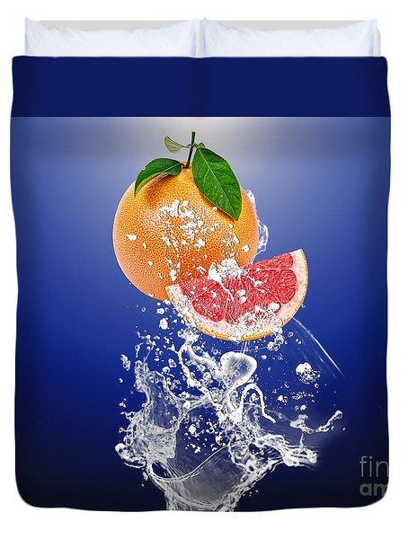 Grapefruit Splash Duvet Cover