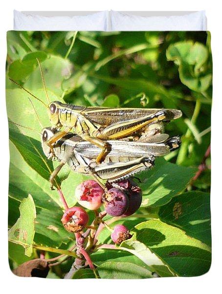 Grasshopper Love Duvet Cover