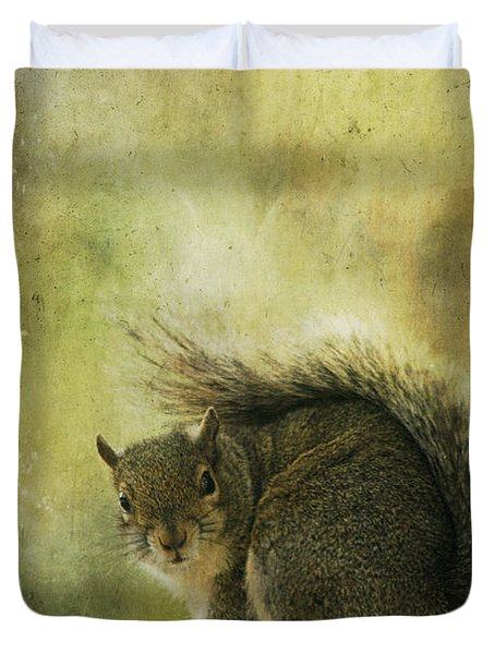 Gray Squirrel Duvet Cover