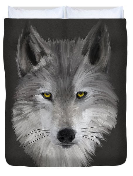 Gray Wolf Duvet Cover