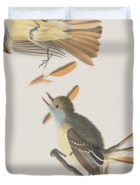 Great Crested Flycatcher Duvet Cover
