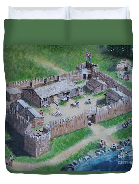 Great Lakes North Trading Post Duvet Cover by Francine Heykoop