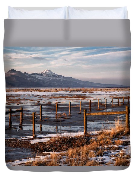Great Salt Lake Duvet Cover