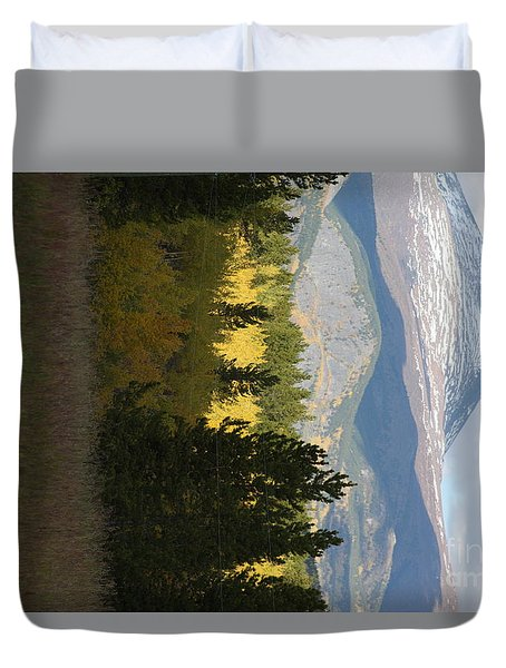 Duvet Cover featuring the photograph Green And Gold by Brian Boyle