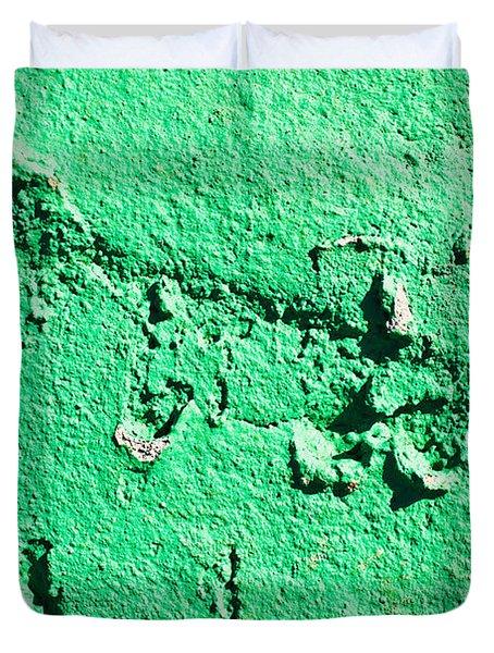 Green Background Duvet Cover