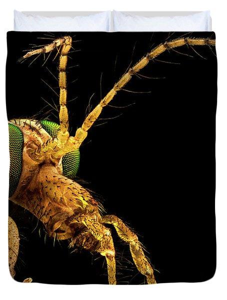 Green Eyed Crane Fly Duvet Cover