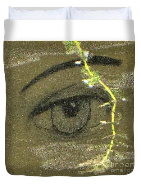 Green Eyes Duvet Cover