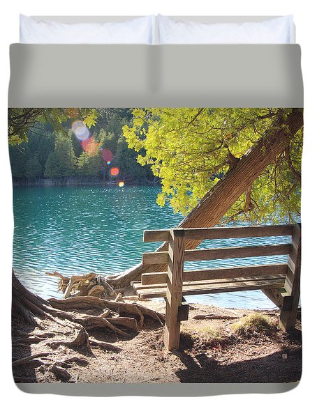 Green Lakes Duvet Cover