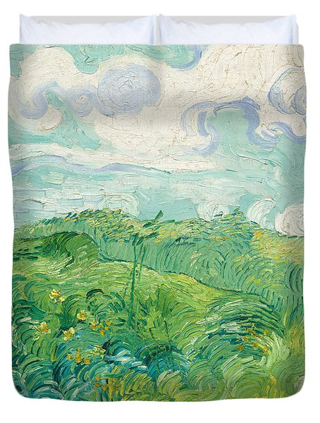 Green Wheat Fields   Auvers Duvet Cover