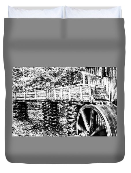 Duvet Cover featuring the photograph Grist Mill by Jay Stockhaus