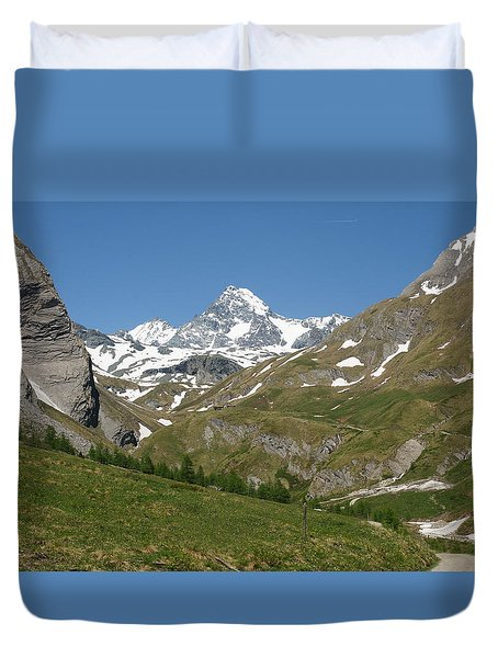 Duvet Cover featuring the photograph Grossglockner by Christian Zesewitz