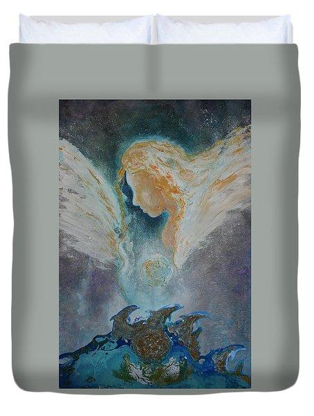 Angelic Encounters  Duvet Cover