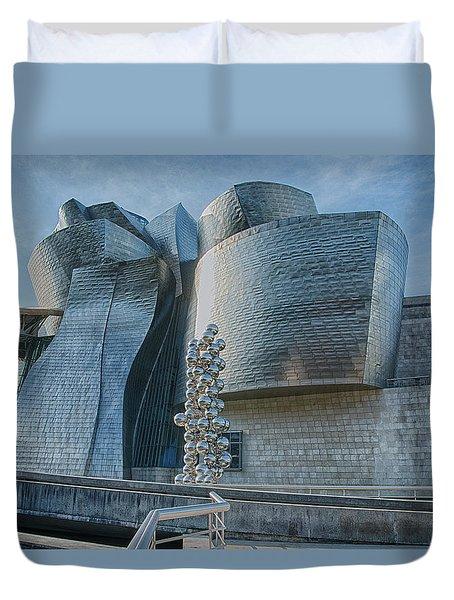 Guggenheim Museum Bilbao Spain Duvet Cover by James Hammond