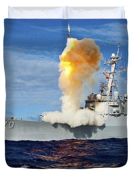 Guided Missile Destroyer Uss Hopper Duvet Cover