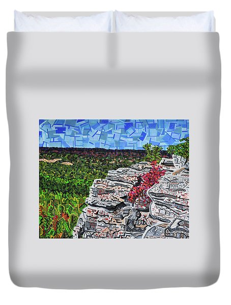 Hanging Rock State Park Duvet Cover by Micah Mullen