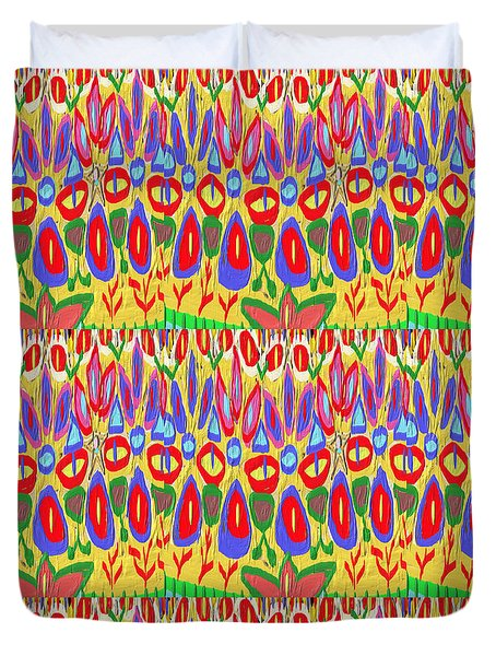 Happy Celebrations Abstract Acrylic Painting Fineart From Navinjoshi At Fineartamerica.com These Gra Duvet Cover by Navin Joshi