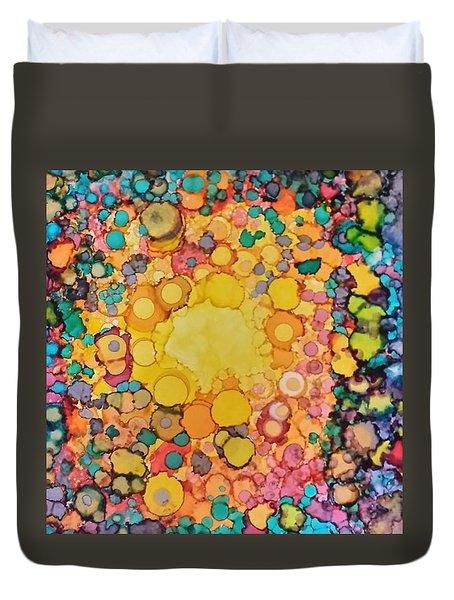 Happy Explosion Duvet Cover