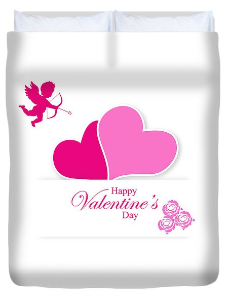 Happy Valentine's Day Duvet Cover