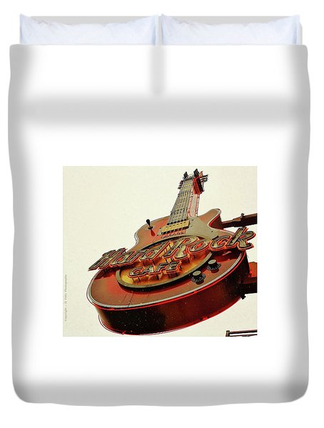 Hard Rock Cafe' Duvet Cover