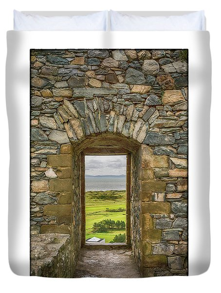 Harlech View Duvet Cover by R Thomas Berner