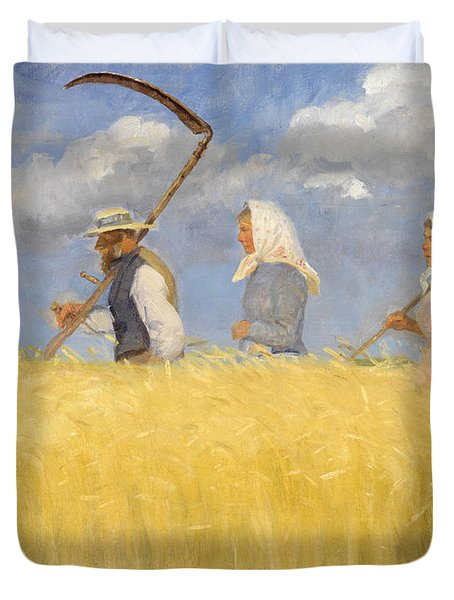 Harvesters Duvet Cover by Anna Ancher