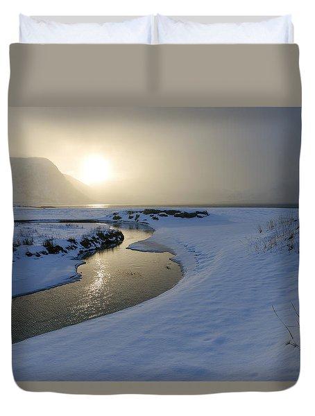 Haukland Beach, Lofoten Duvet Cover