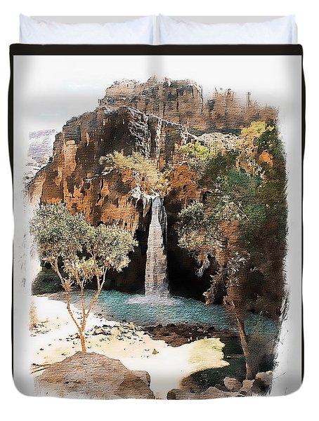 Havasu Falls - Havasupai Indian Reservation Duvet Cover