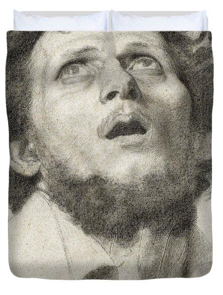 Head Of A Man Duvet Cover