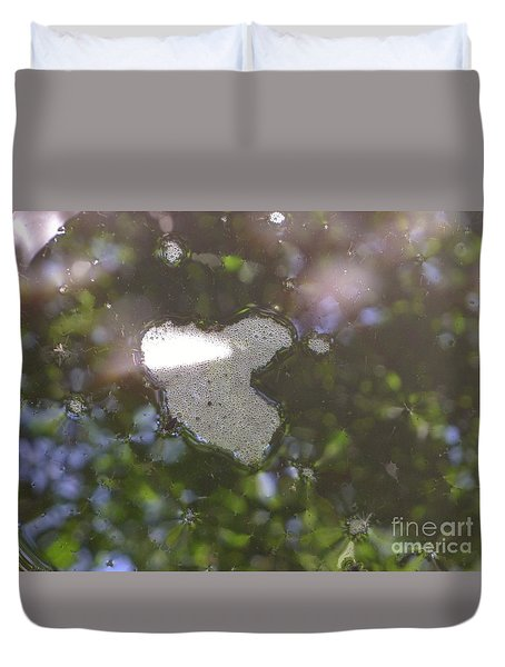 Duvet Cover featuring the photograph heART bubbles by Nora Boghossian