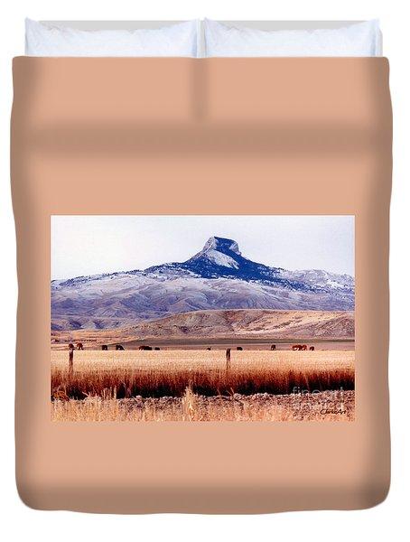 Heart Mountain - Cody,  Wyoming Duvet Cover