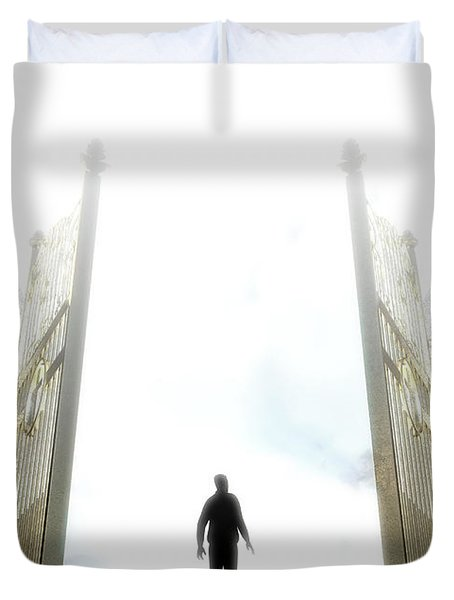 Heavens Gates And Silhouette Duvet Cover