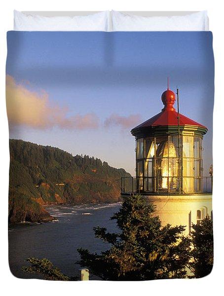 Heceta Head Lighthouse Duvet Cover by Greg Vaughn - Printscapes